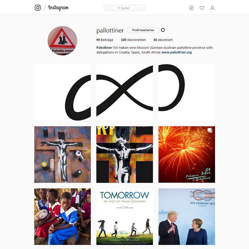 Instagram Aufritt der Pallottiner