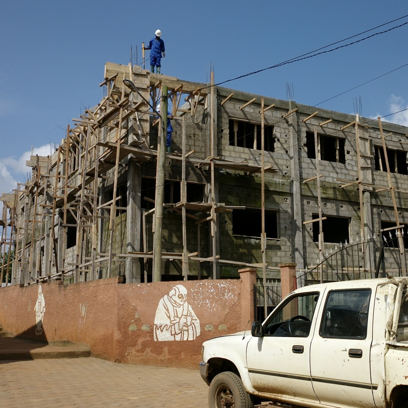 Schulbau in Kamerun