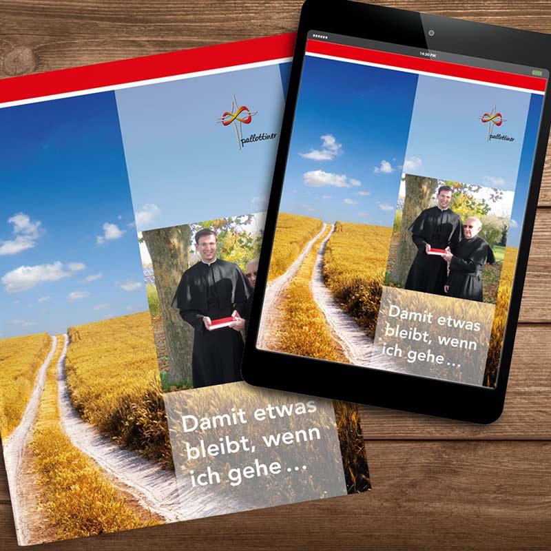Erbschaftsbroschüre der Pallottiner als Heft und als PDF