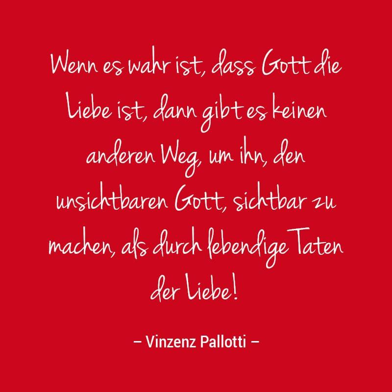 Zitat Pallotti Liebe