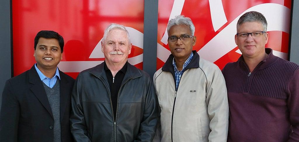 Missionssekretäre aus Deutschland und Indien mit Wohltäter