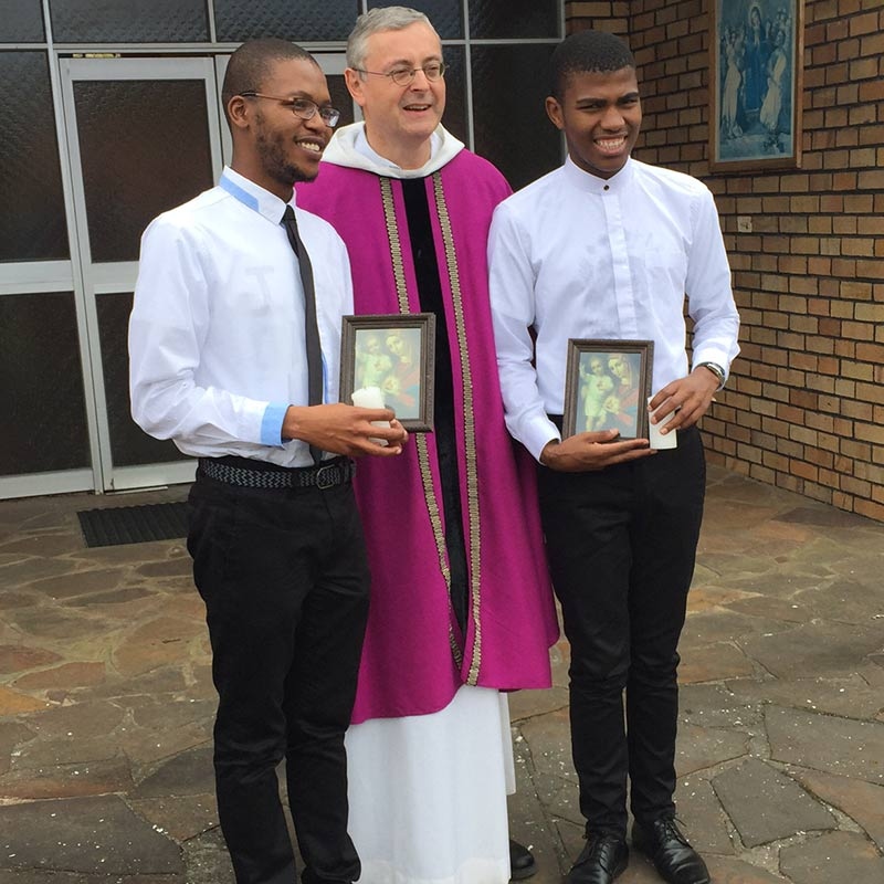 Feier für zwei Pallottiner-Postulanten