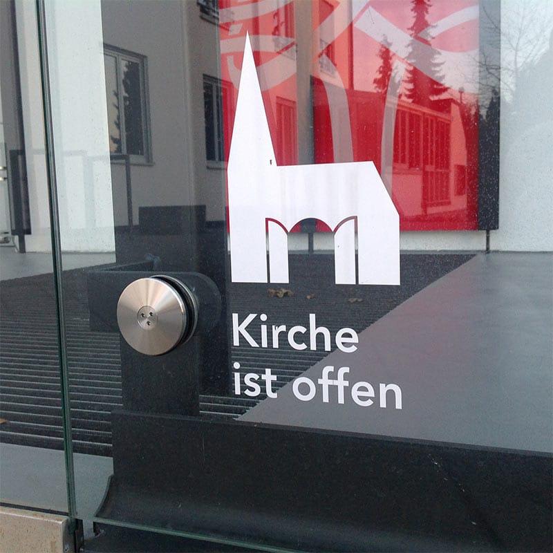 """Symbol """"Kirche ist offen!"""""""