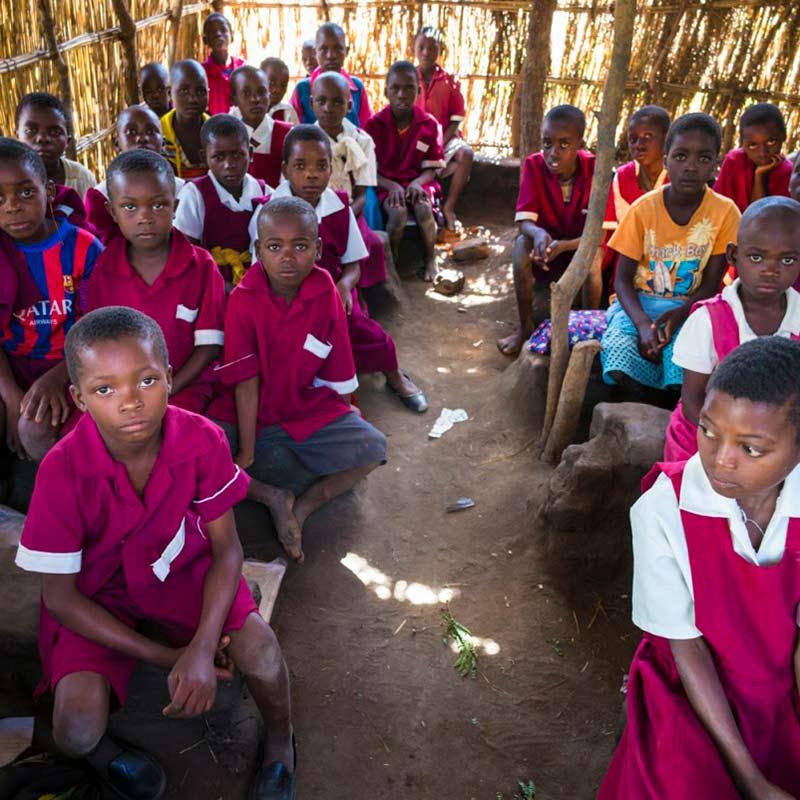 Klassenzimmer in Malawi