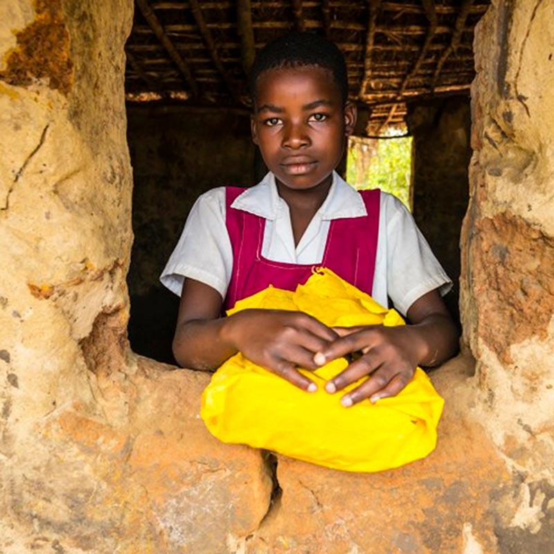 Schule in Malawi - Blick aus dem Fenster