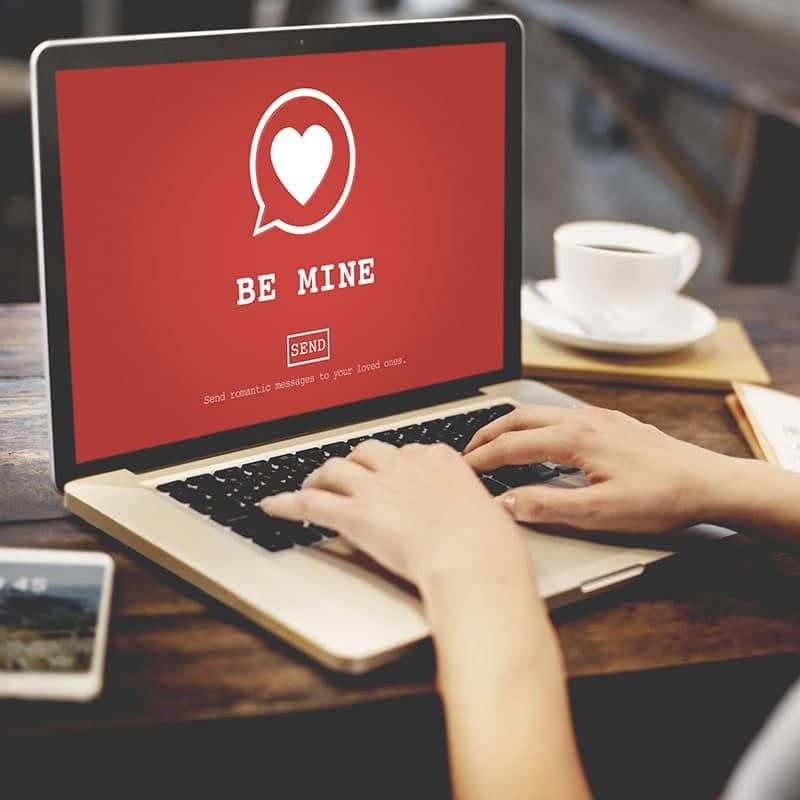 Laptop mit Herz