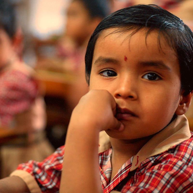 Waisenkind in Indien