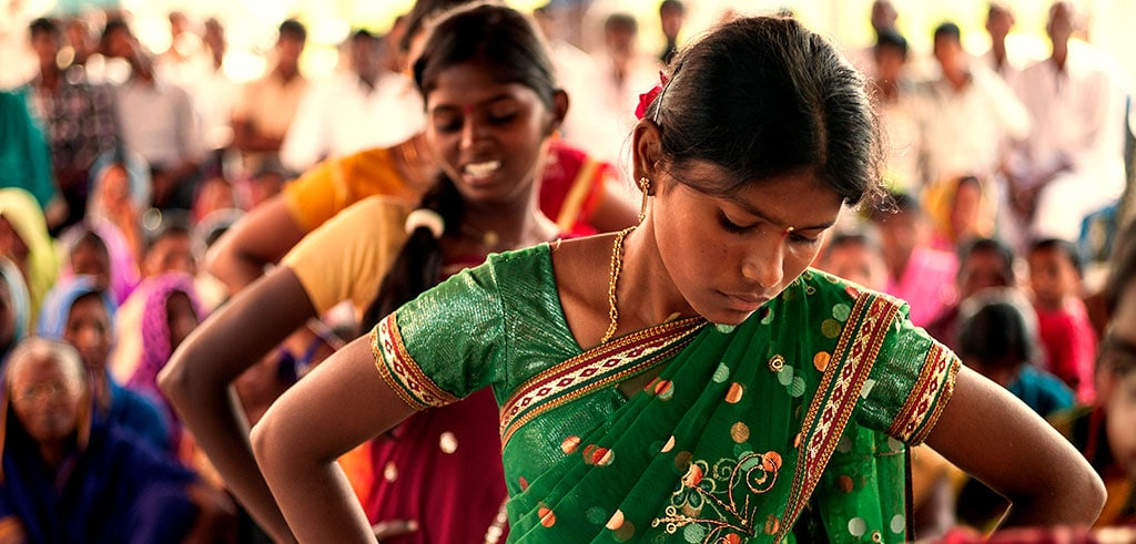 Junge Frauen in Indien fördern
