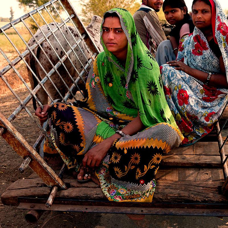 Junge Frau in Indien