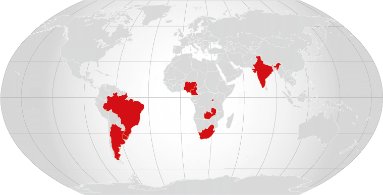 Weltkarte Missionsbericht 2016