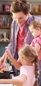 Vater mit Kindern