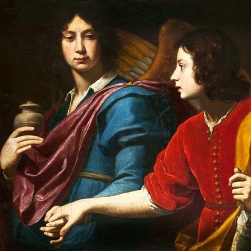 Tobias und Erzengel Raphael, von Lorenzo Lippi