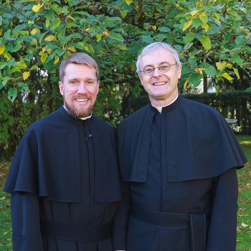 Provinzial Scharler und Bruder Terhorst