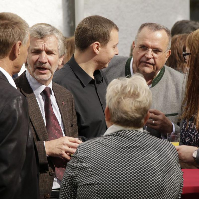 Gäste im Gespräch