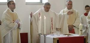 Erste Profess mit Provinzial Pater Helmut Scharler SAC