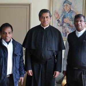 Der Generalrektor mit Provinzialen aus Indien
