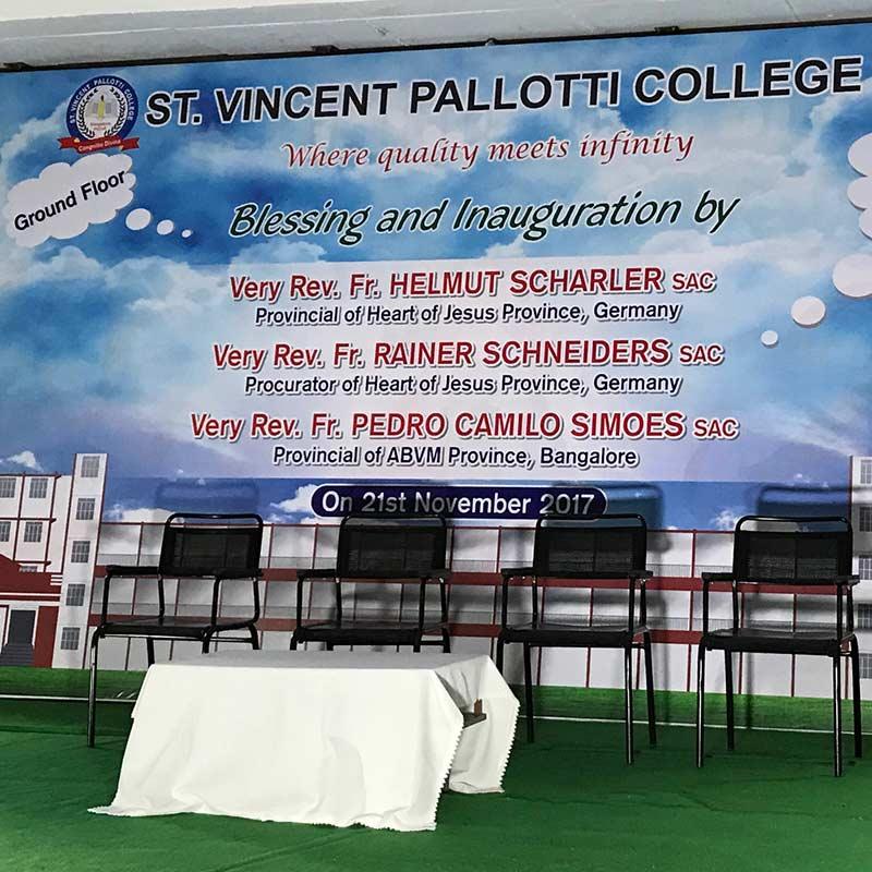 Einweihung und Eröffnung st. vincent pallotti college india