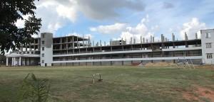 College im Bau, Erdgeschoss fertiggestellt