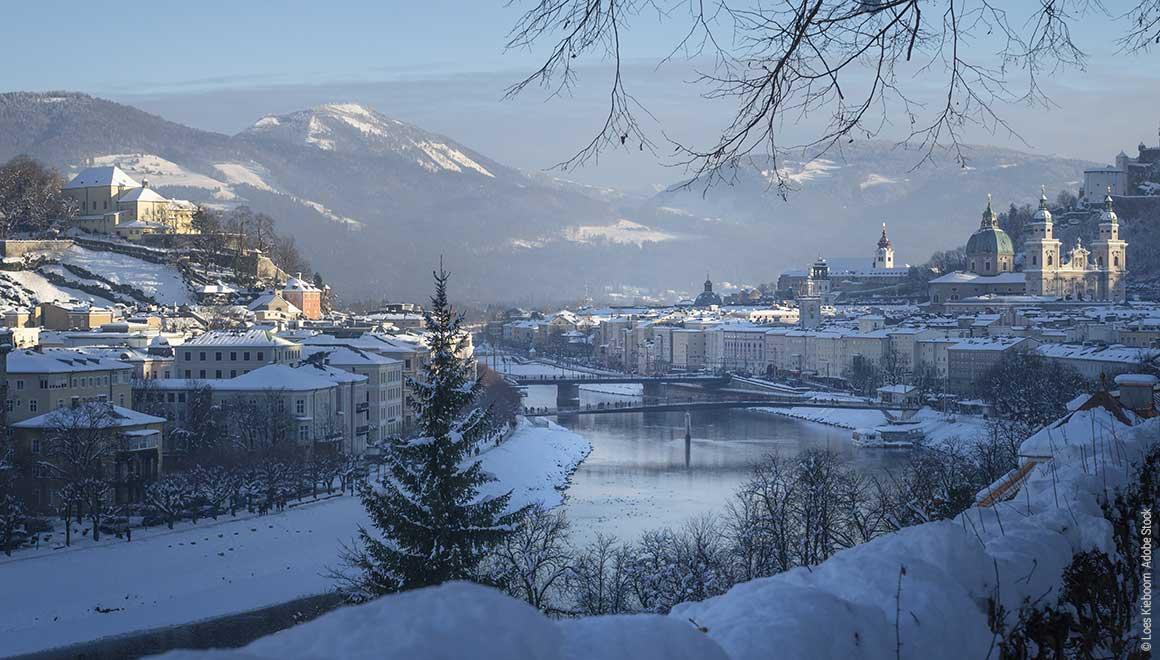 Salzburg im Winter Gästehäuser der Pallottiner