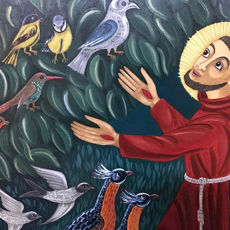 Hl. Franziskus - Gemälde im Kloster Reute