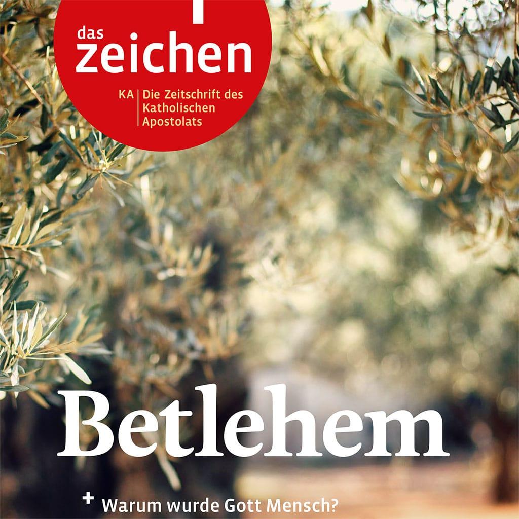 """Titel der Dezemberausgabe der Pallottiner von """"das zeichen"""""""