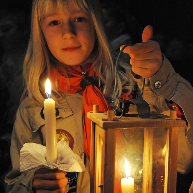 Pallottiner Hinweis Friedenslicht aus Bethlehem