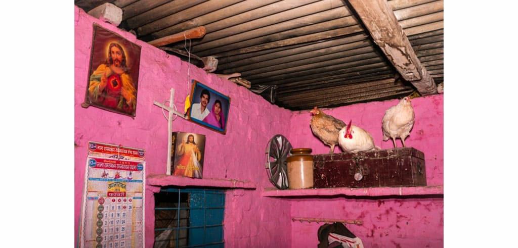 Wohnecke In Indischem Haus