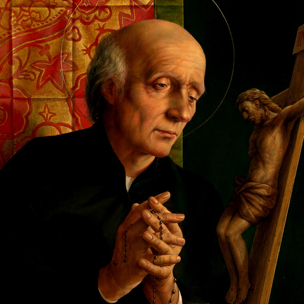 Vinzenz Pallotti Ausschnitt aus einem Gemälde von Michael Triegel