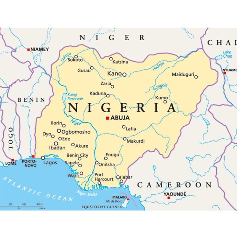 Karte Nigeria