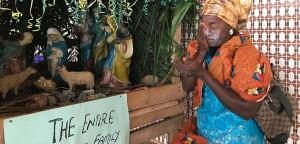 Krippe in Nigeria mit Babypuder