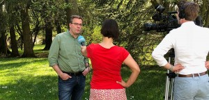 Interview im Park