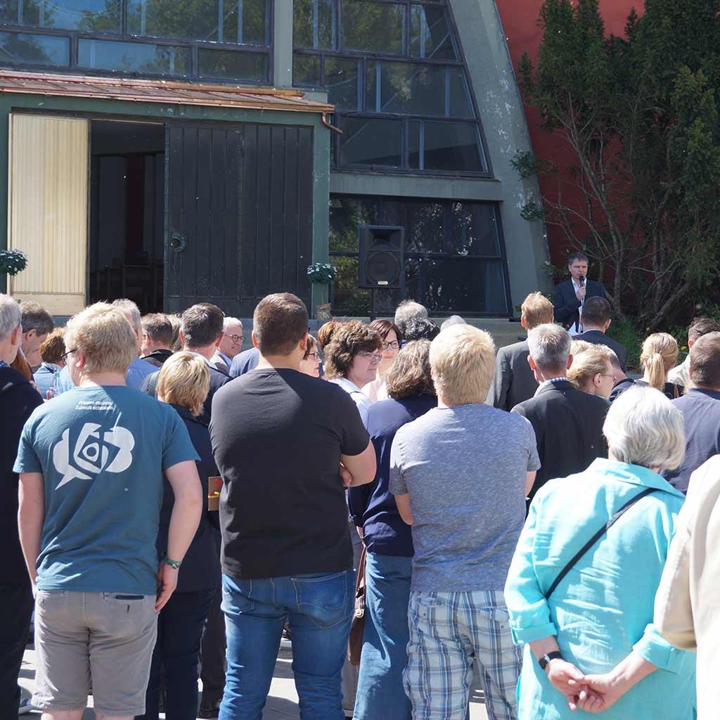 Begrüßung durch Georg Hunold Jugendhof Pallotti