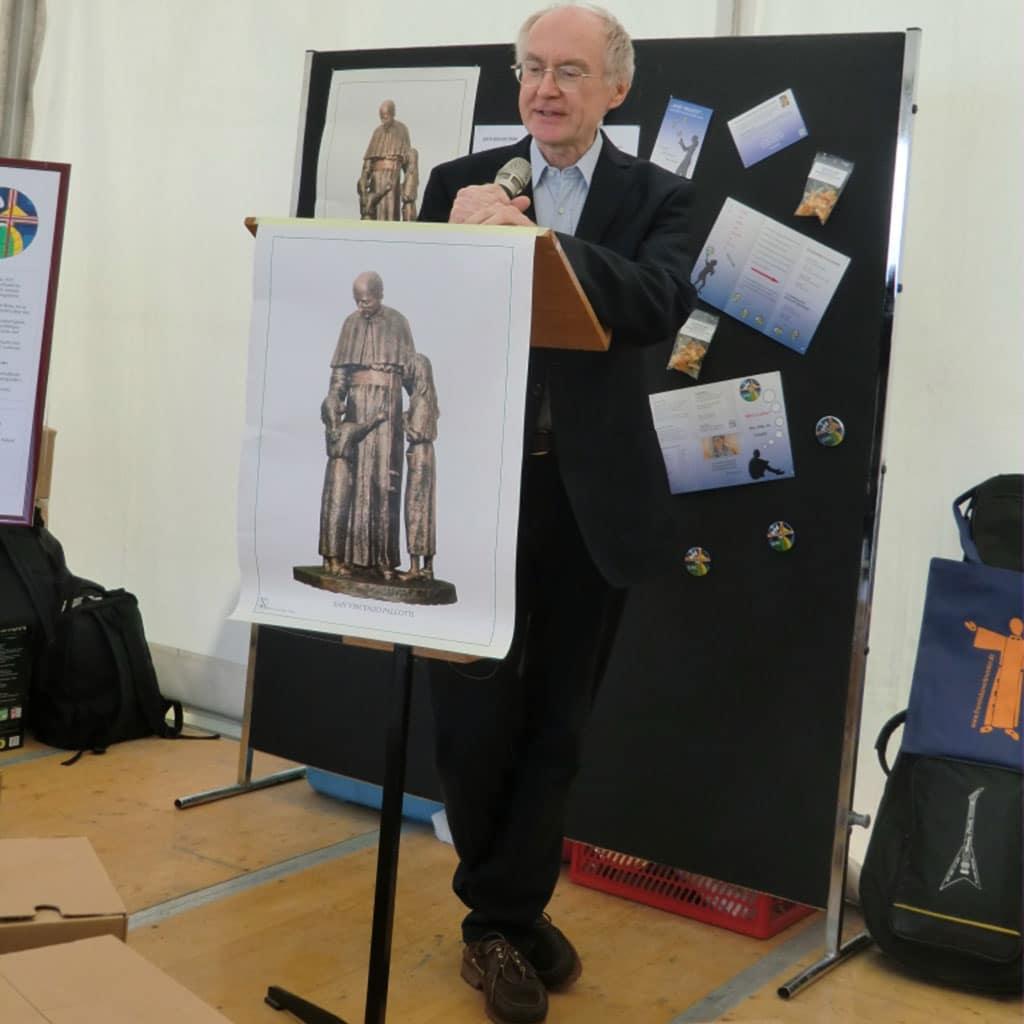 Input im Stand der pallottinischen UNIO beim Katholikentag 2018
