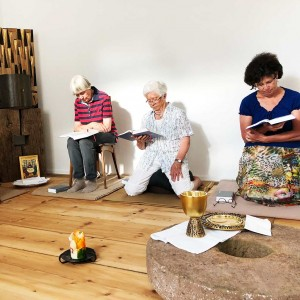 Altar-Mühlrad im Gebets- und Meditationsraum