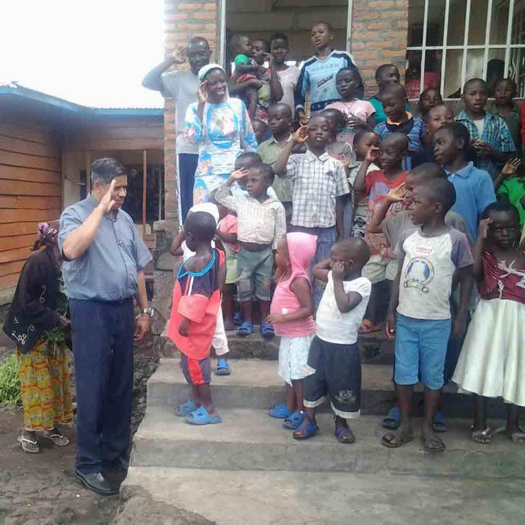 General Pater Jacob Nampudakam SAC im Kongo