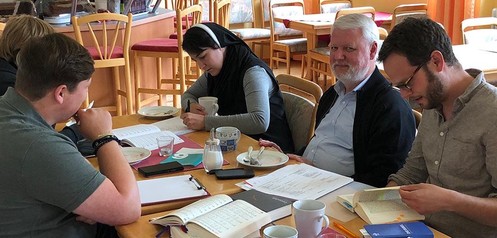 Vorbereitungsgruppe beim Treffen in Friedberg