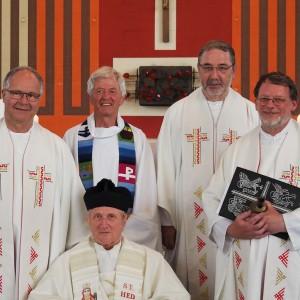 Pater Wipfler bei seiner Verabschiedung in Wehrden
