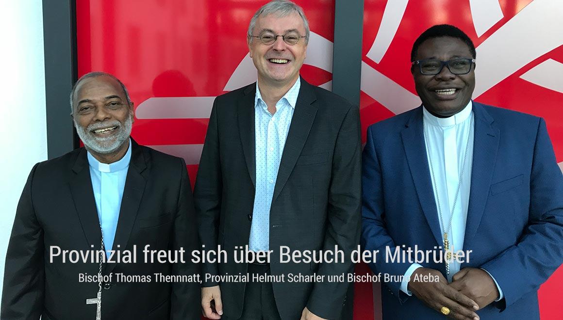 Zwei Bischöfe besuchen Provinzial Pater Helmut Scharler SAC
