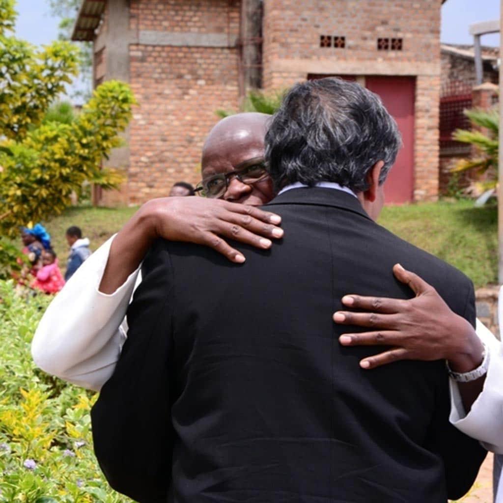 Herzliche Begrüßung in Ruanda