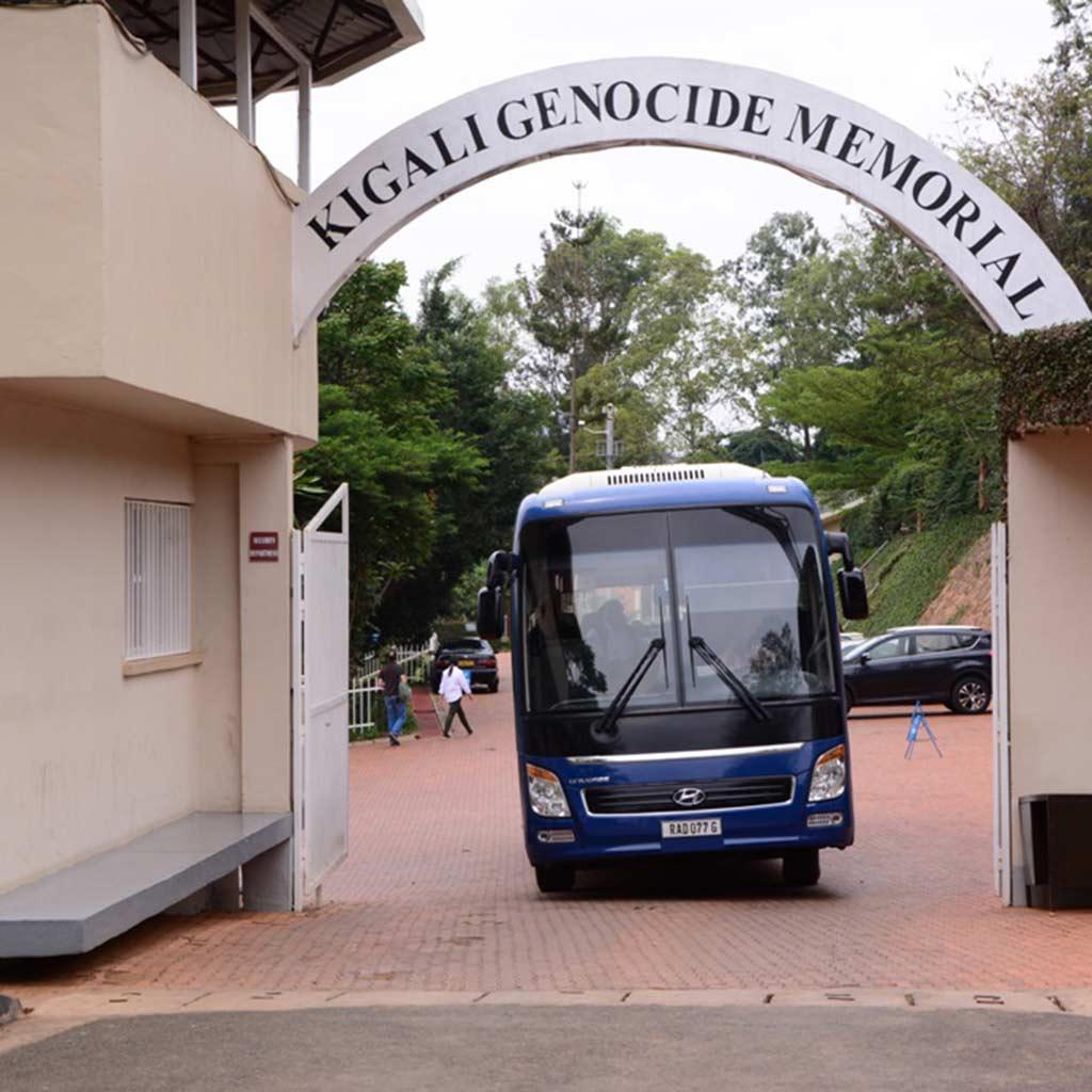 Eingang Genocide Memorial in Kigali, Ruanda