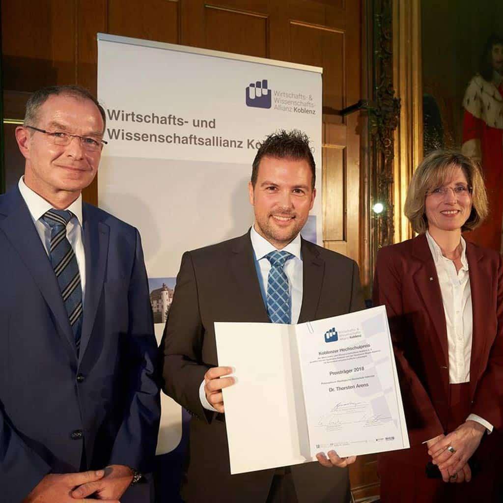 Koblenzer Hochschulpreis für Dr. Thorsten Arens
