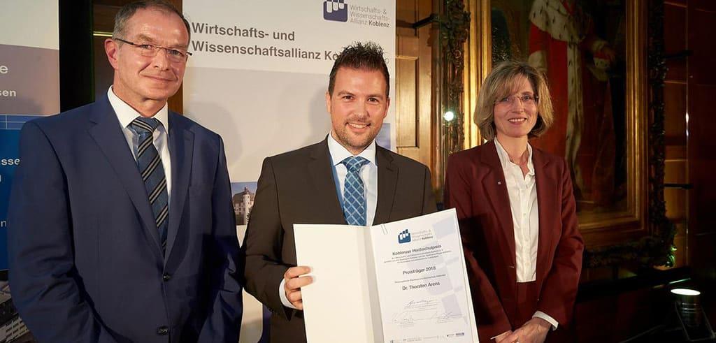 Dr. Arens erhält Koblenzer Hochschulpreis