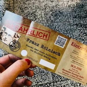 Eintrittskarte für das Reinisch-Musical in Östringen
