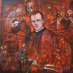 Pater Richard Henkes - Gemälde von Beate Heinen 1995