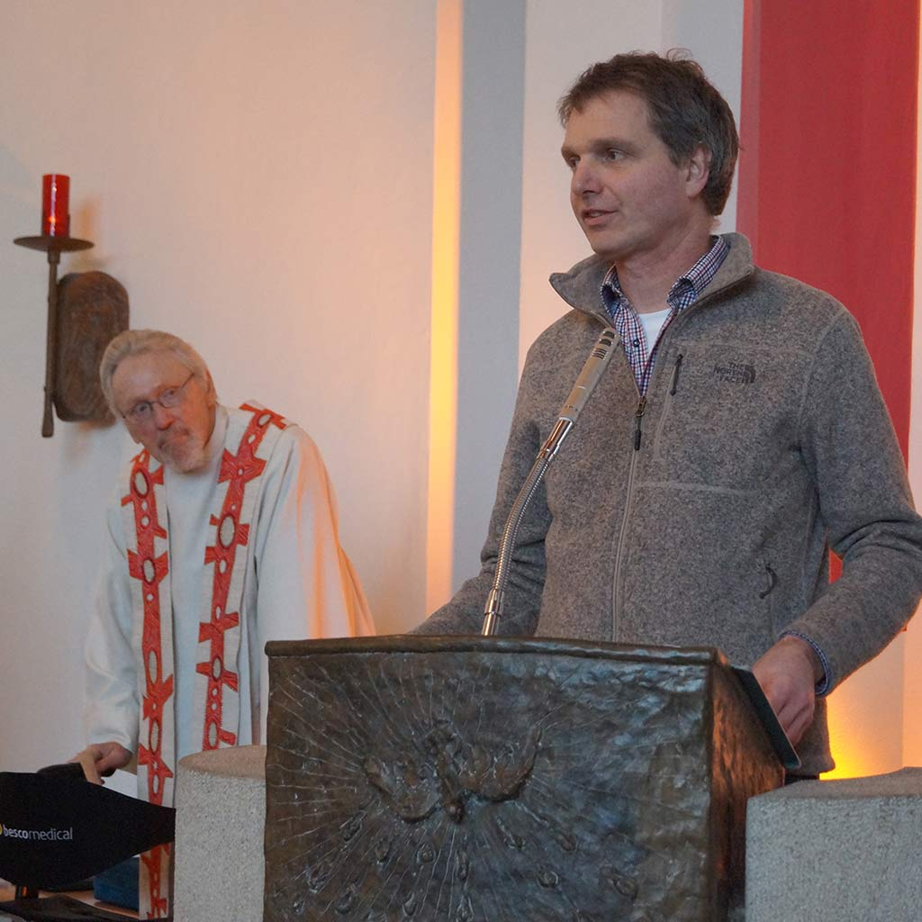 Jugendhofleiter Georg Hunold beim Pallottifest 2019