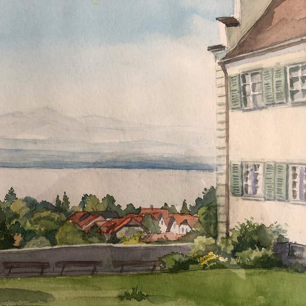 Schloss Hersberg Aquarell