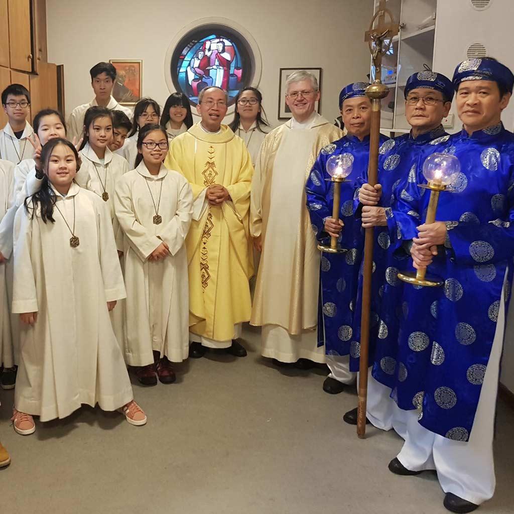 Vietnamesiche Christen feiern in Hamburg das Chinesische Neujahrsfest