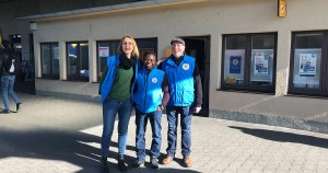 Teil des Teams der Bahnhofsmission in Augsburg