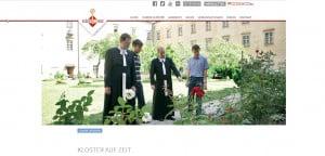 Internetseite Kloster auf Zeit und Freiwilliges Ordensjahr in Österreich