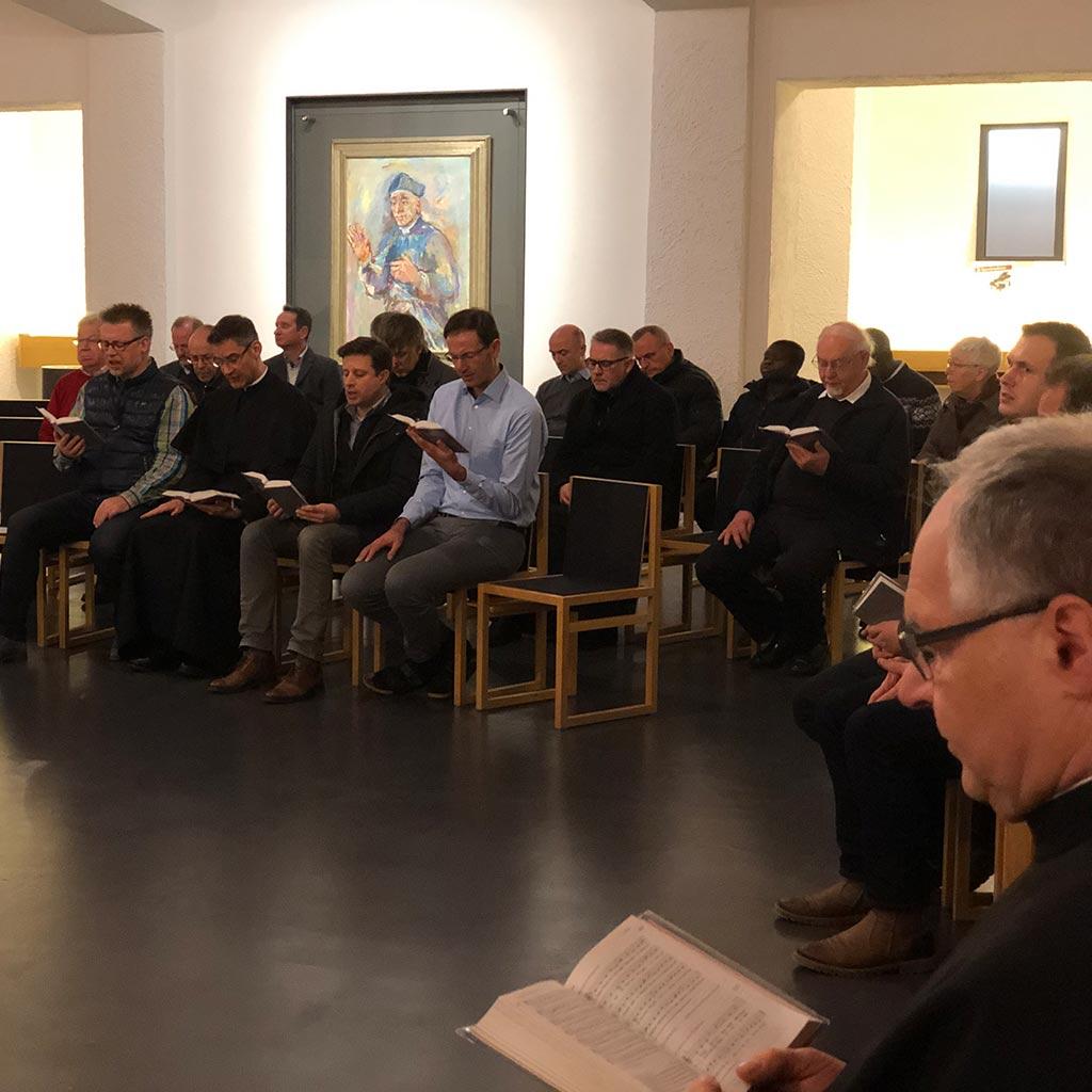 Vesper mit der neuen Provinzleitung in der Pallotti-Kirche des Provinzialats